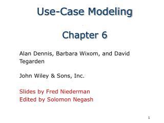 Use-Case Modeling  Chapter 6