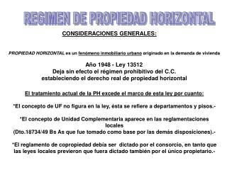 REGIMEN DE PROPIEDAD HORIZONTAL