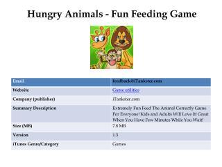 Hungry Animals - Fun Feeding Game
