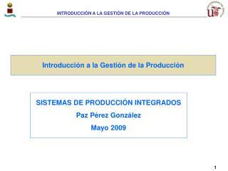 Introducci n a la Gesti n de la Producci n