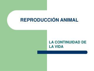 REPRODUCCI N ANIMAL