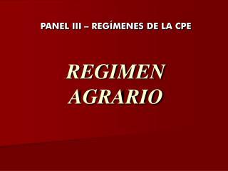 REGIMEN AGRARIO