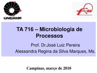 TA 716   Microbiologia de Processos