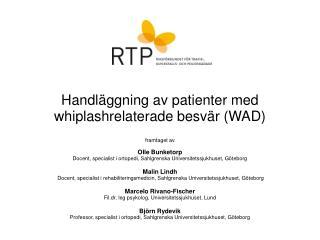 Handl ggning av patienter med whiplashrelaterade besv r WAD