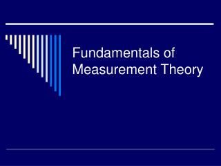 Fundamentals of Measurement Theory