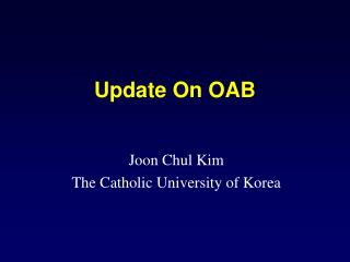 Update On OAB