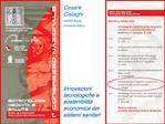 Cesare Cislaghi  ANSSR Roma, Universit  Milano       Innovazioni tecnologiche e sostenibilit  economica dei sistemi sani