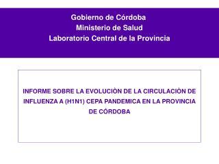 Gobierno de C rdoba   Ministerio de Salud   Laboratorio Central de la Provincia