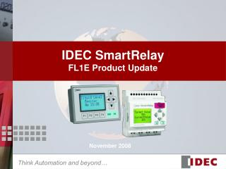 IDEC SmartRelay FL1E Product Update