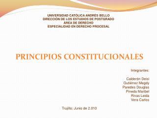 UNIVERSIDAD CAT LICA ANDR S BELLO DIRECCI N DE LOS ESTUDIOS DE POSTGRADO  REA DE DERECHO ESPECIALIDAD EN DERECHO PROCESA