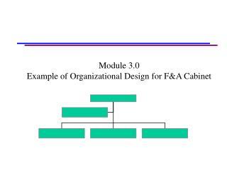 Module 3.0 Example of Organizational Design for FA Cabinet