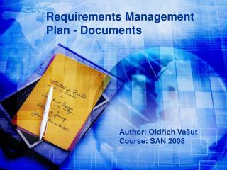 Requirements Management Plan - Documents
