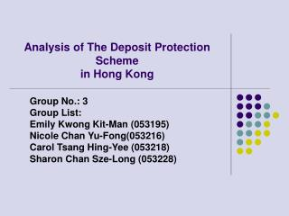Analysis of The Deposit Protection Scheme in Hong Kong