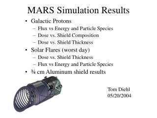 MARS Simulation Results