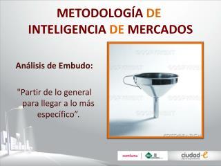 METODOLOG A DE  INTELIGENCIA DE MERCADOS