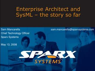 Enterprise Architect and SysML   the story so far