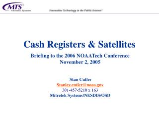 Cash Registers  Satellites