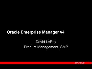 Oracle Enterprise Manager v4