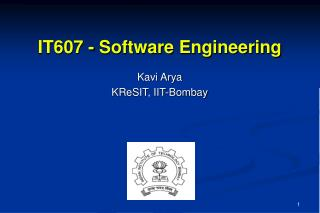 IT607 - Software Engineering