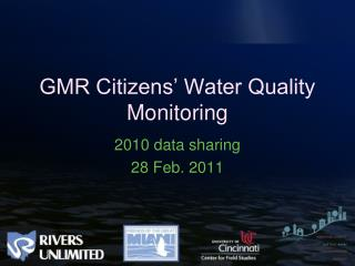 GMR Citizens  Water Quality Monitoring