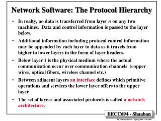 Network Software: The Protocol Hierarchy