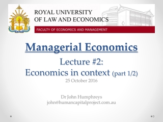 Managerial Economics Topic 11:  Competition and Entry