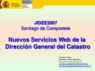 Nuevos Servicios Web de la  Direcci n General del Catastro