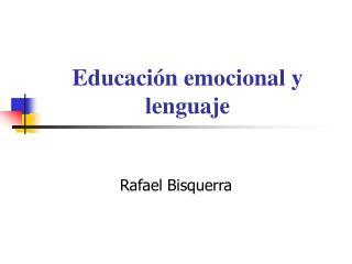 Educaci n emocional y lenguaje