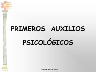 PRIMEROS  AUXILIOS PSICOL GICOS