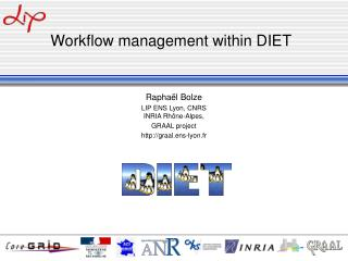 Workflow management within DIET