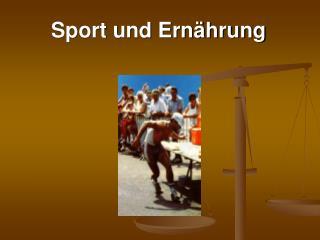 Sport und Ern hrung