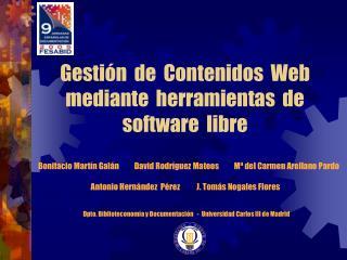Gesti n  de  Contenidos  Web mediante  herramientas  de software  libre