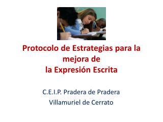 Protocolo de Estrategias para la mejora de la Expresi n Escrita