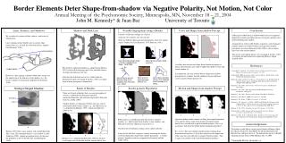 Border Elements Deter Shape-from-shadow via Negative Polarity, Not Motion, Not Color Annual Meeting of the Psychonomic S