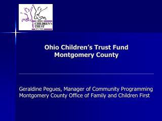 Ohio Children s Trust Fund  Montgomery County