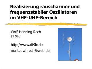 Realisierung rauscharmer und frequenzstabiler Oszillatoren im VHF-UHF-Bereich