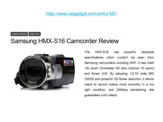 Samsung HMX-S16 Camcorder Review