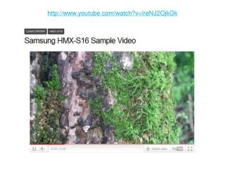 Samsung HMX-S16 Sample Video