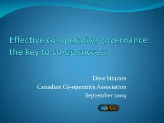 Good governance: the key to co-op success