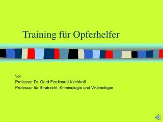 Training f r Opferhelfer