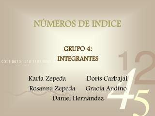 N MEROS DE INDICE