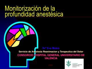 Monitorizaci n de la  profundidad anest sica