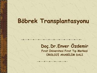 B brek Transplantasyonu
