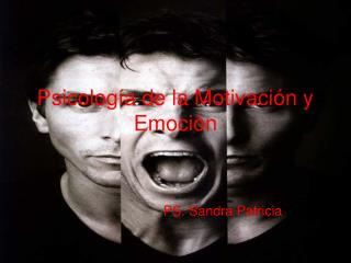 Psicolog a de la Motivaci n y Emoci n