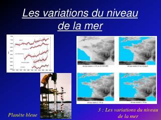Les variations du niveau de la mer