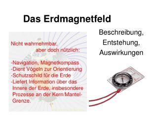 Das Erdmagnetfeld