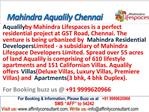 Mahindra Lifespaces World City Aqualily Chennai