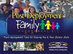 Post-Deployment Family Engagement Kit