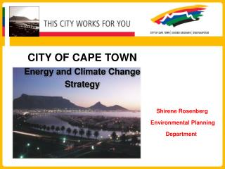 CITY OF CAPE TOWN Energy and Climate Change  Strategy