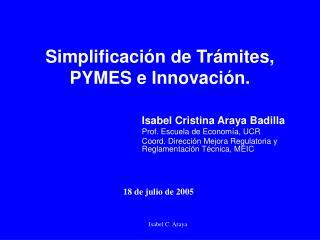 Simplificaci n de Tr mites, PYMES e Innovaci n.